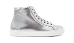 MILANO HIGH TOP - PERFO SILVER - Damen
