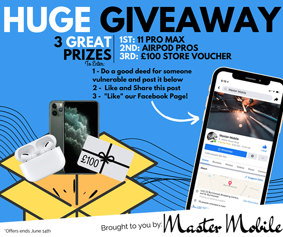 Master Mobile Give Away Their Most Generous Prizes Yet To Help Encourage Good Will Gestures During Covid-19 Pandemic