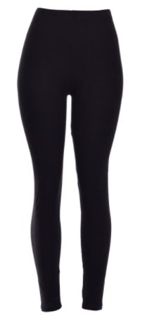 Plus Size Solid BLACK Leggings (Fits size 12-22)