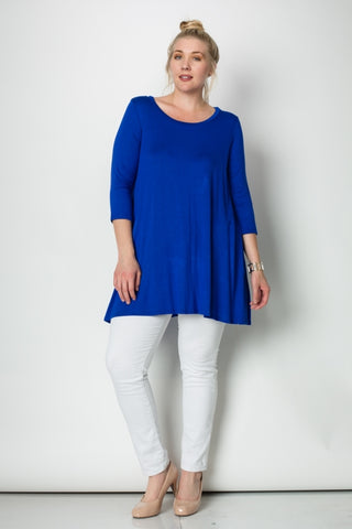 3/4 Sleeve A-Line Tunic Plus