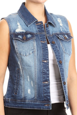 Can't Live Without It Denim Vest