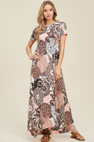 Misses Peaches and Cream/Denim Dreams Maxi Dress