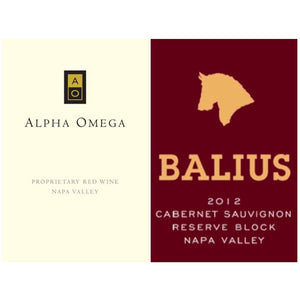 ALPHA OMEGA Proprietary Red Napa Valley 2012 | BALIUS Cabernet Sauvignon Reserve Block Napa Valley 2012