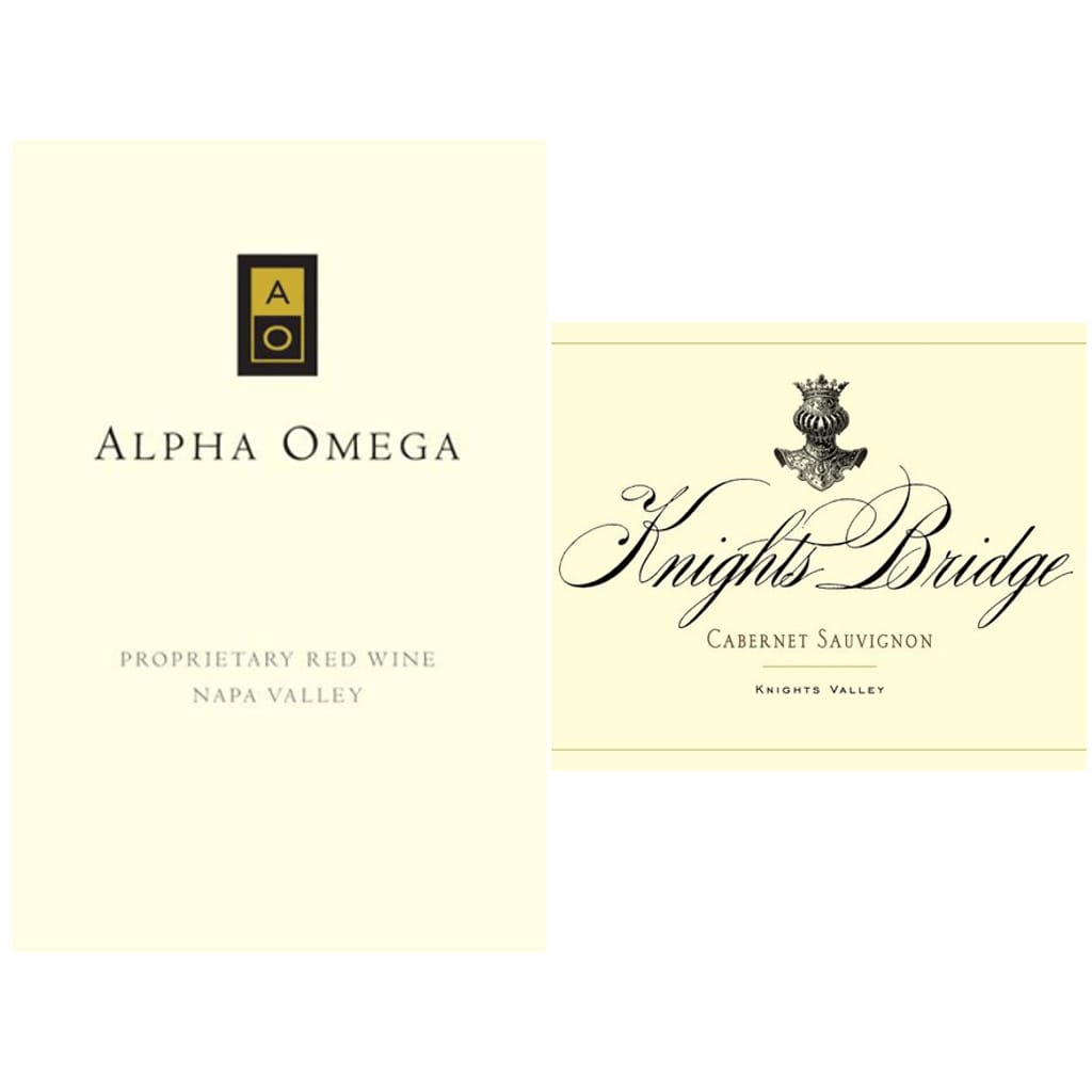ALPHA OMEGA Proprietary Red Napa Valley 2012 | KNIGHTS BRIDGE Cabernet Sauvignon Knights Valley 2012