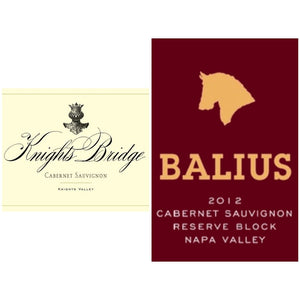 KNIGHTS BRIDGE Cabernet Sauvignon Knights Valley 2012 | BALIUS Cabernet Sauvignon Reserve Block Napa Valley 2012