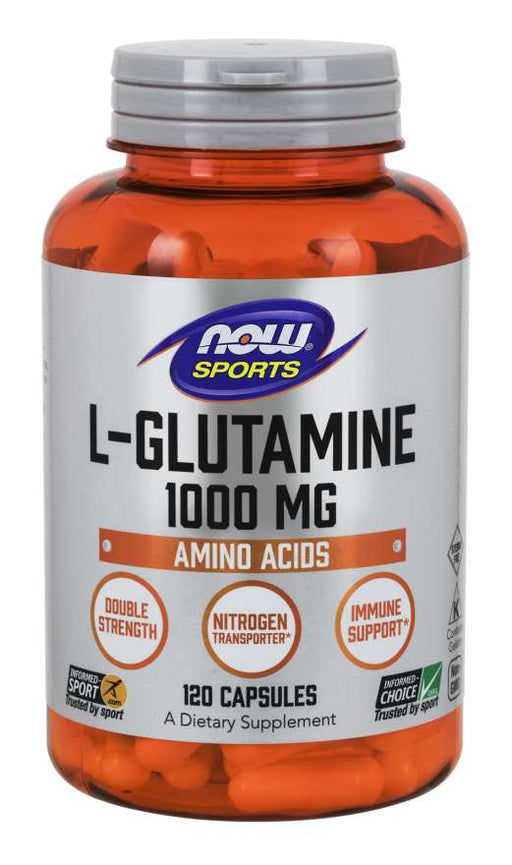 Now Foods - L-Glutamine, Double Strength 1000 mg, 120 Caps