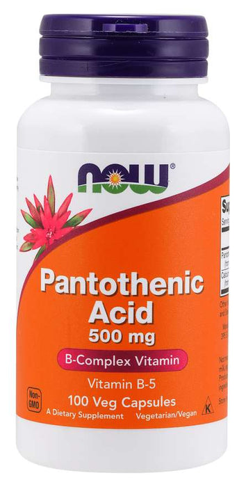 Now Foods Pantothenic Acid 500mg 100 Caps - Vitamin B 5