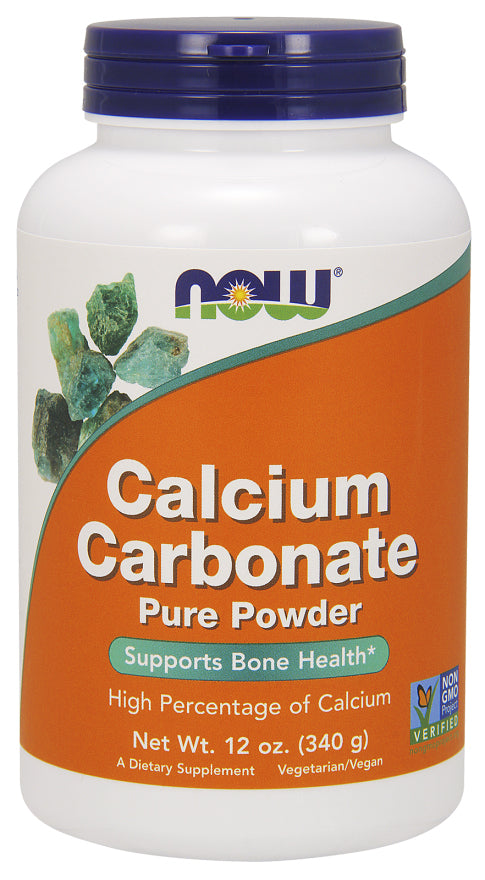 Now Foods Calcium Carbonate Powder 340g, Bone Health