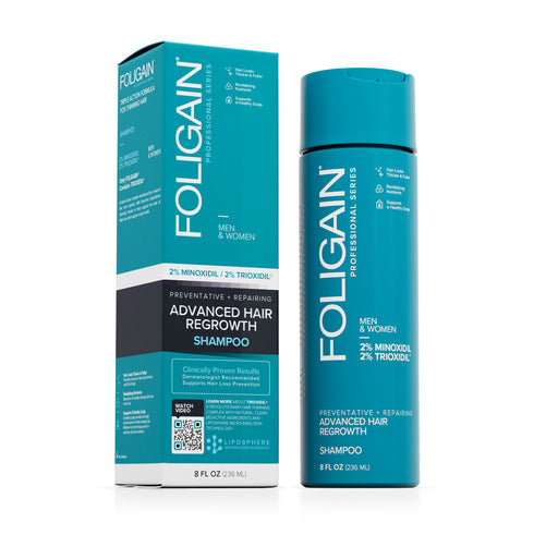 Foligain - Advanced Hair Regrowth Shampoo with 2% Minoxidil & 2% Trioxidil