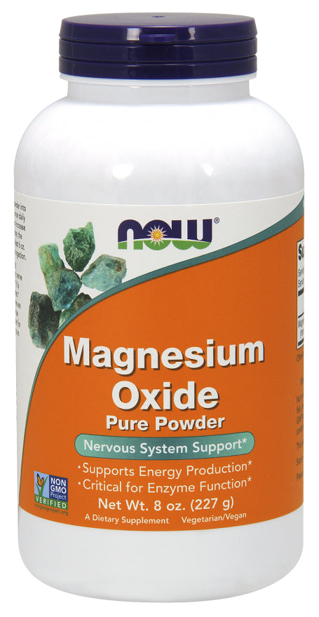 Now Foods Magnesium Oxide Pure Powder 227 g, Energy and Enzyme Support