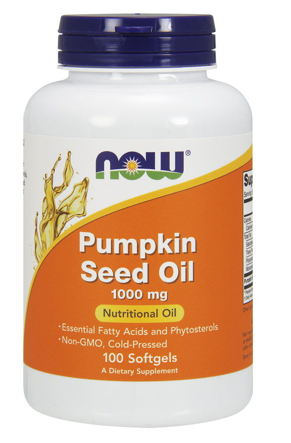 Now Foods Pumpkin Seed Oil, 1000 mg, 100 Softgels