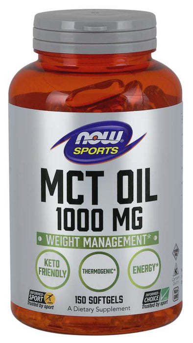 Now Foods - MCT Oil 1000 mg, 100 Softgels