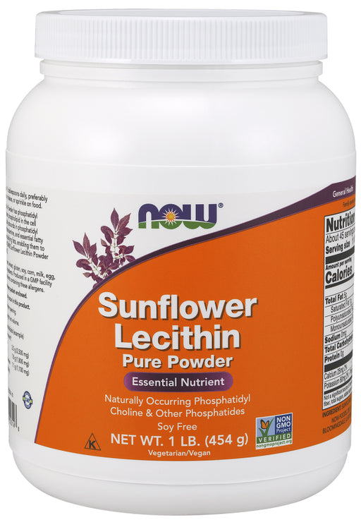Now Foods, Sunflower Lecithin, Pure Powder, 1 lb (454 g)