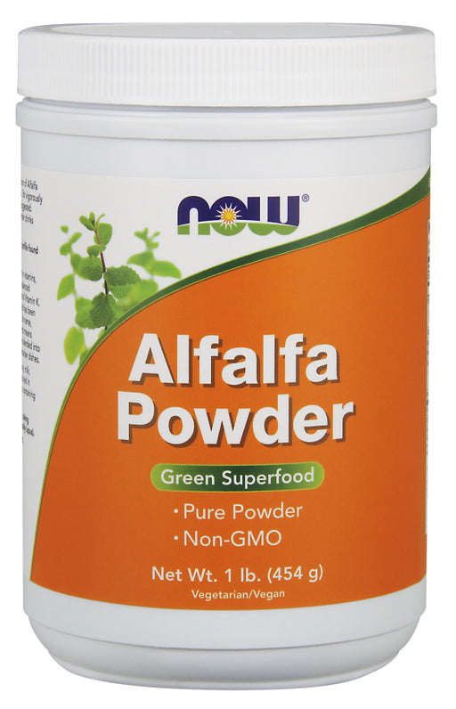 Now Foods Alfalfa Powder 454g, Green Superfood, Vitamin K
