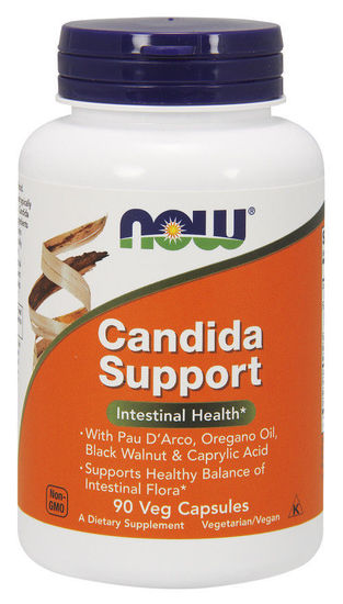 Now Foods Candida Support 90 Veg Caps, Intestinal Health Bacteria Balance