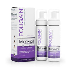 Foligain - Minoxidil 2% Hair Regrowth Foam For Women 3 Month Supply (177ml)