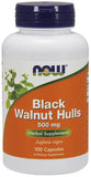 Now Foods Black Walnut Hulls 500 mg 100 Caps