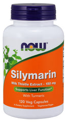 Now Foods Silymarin Milk Thistle Extract 150mg, 120 Veg Caps, with Tumeric