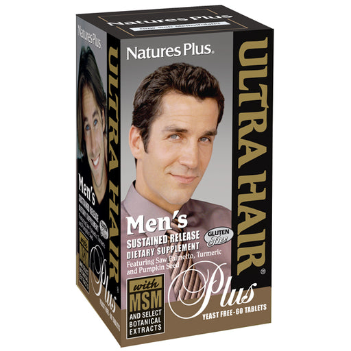 Natures Plus Ultra Hair Plus for Men Sustained Release (60 Tabs)