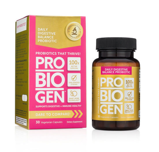 PROBIOGEN DAILY DIGESTIVE BALANCE with Smart Spore Technology Probiotics 30 Capsules