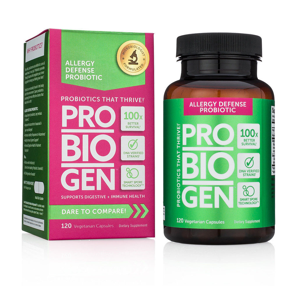 PROBIOGEN ALLERGY DEFENSE PROBIOTIC with Smart Spore Technology 120 Capsules