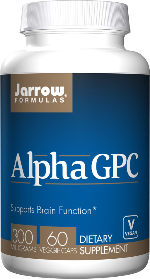 Jarrow Formulas Alpha GPC 300mg 60 Caps, Supports Brain Function