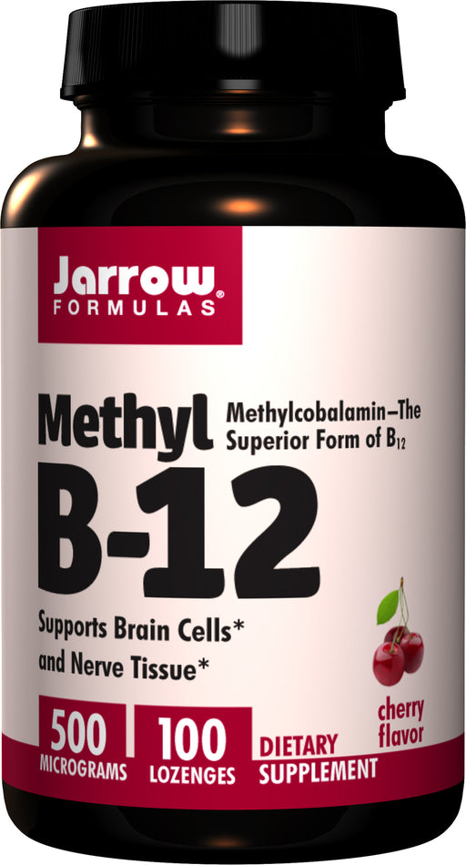 Jarrow Formulas, Methyl B-12, Cherry Flavor, 500 mcg, 100 Lozenges