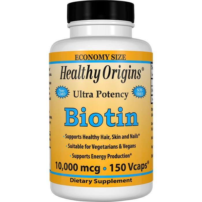 Healthy Origins - BIOTIN (B7), 4 Different Sizes & Strengths
