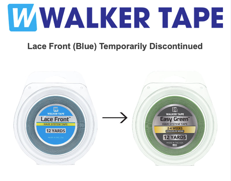 "WALKER TAPE LACE FRONT Hair Tape Adhesive 3/4"" x 12yds - Hairpiece, Wig, Toupee"