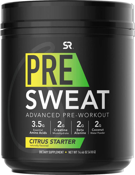 Sports Research - Pre Sweat, Advanced Pre-Workout Formula, 410g - 2 Flavoures