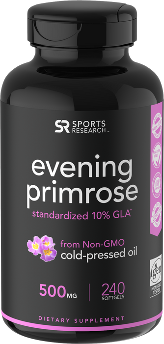 Sports Research - EVENING PRIMROSE OIL, 500mg, 240 SoftGels