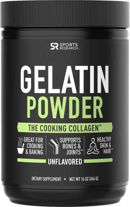 Sports Research - Gelatin Collagen Cooking Powder, 454g (16 oz)