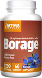 Jarrow Formulas, Borage, GLA-240, 1200 mg, 60 Softgels