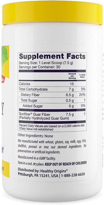 Healthy Origins - HEALTHY FIBER - CLEAR MIXING (SUNFIBER), 225g (7.9OZ)