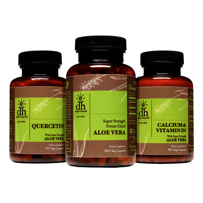 Desert Harvest IC Starter Bundle - Aloe 180 + Quercetin + Calcium