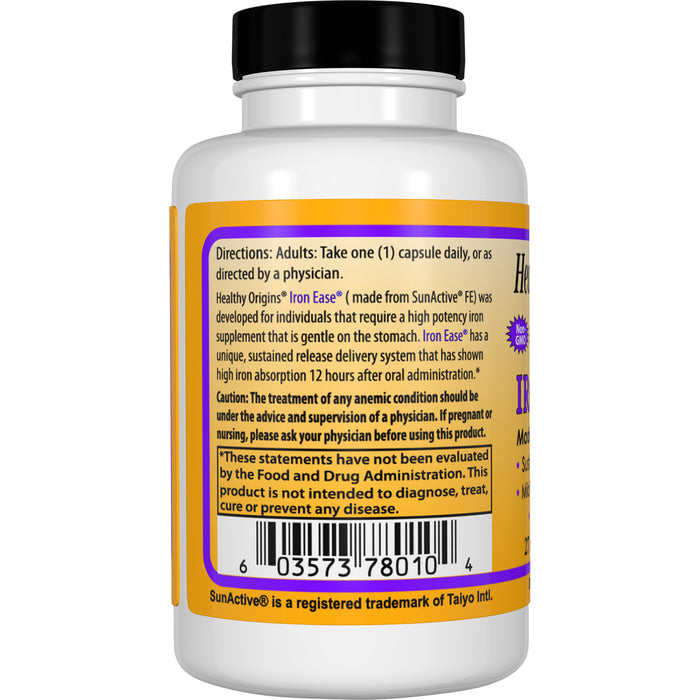 Healthy Origins - IRON EASE, (FEATURING FERROCHEL), 45 mg, 60 VCAPS