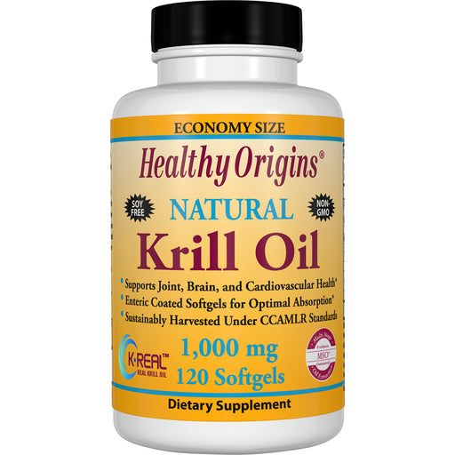 Healthy Origins - KRILL OIL (K-REAL™), 1000MG, 120CAPS