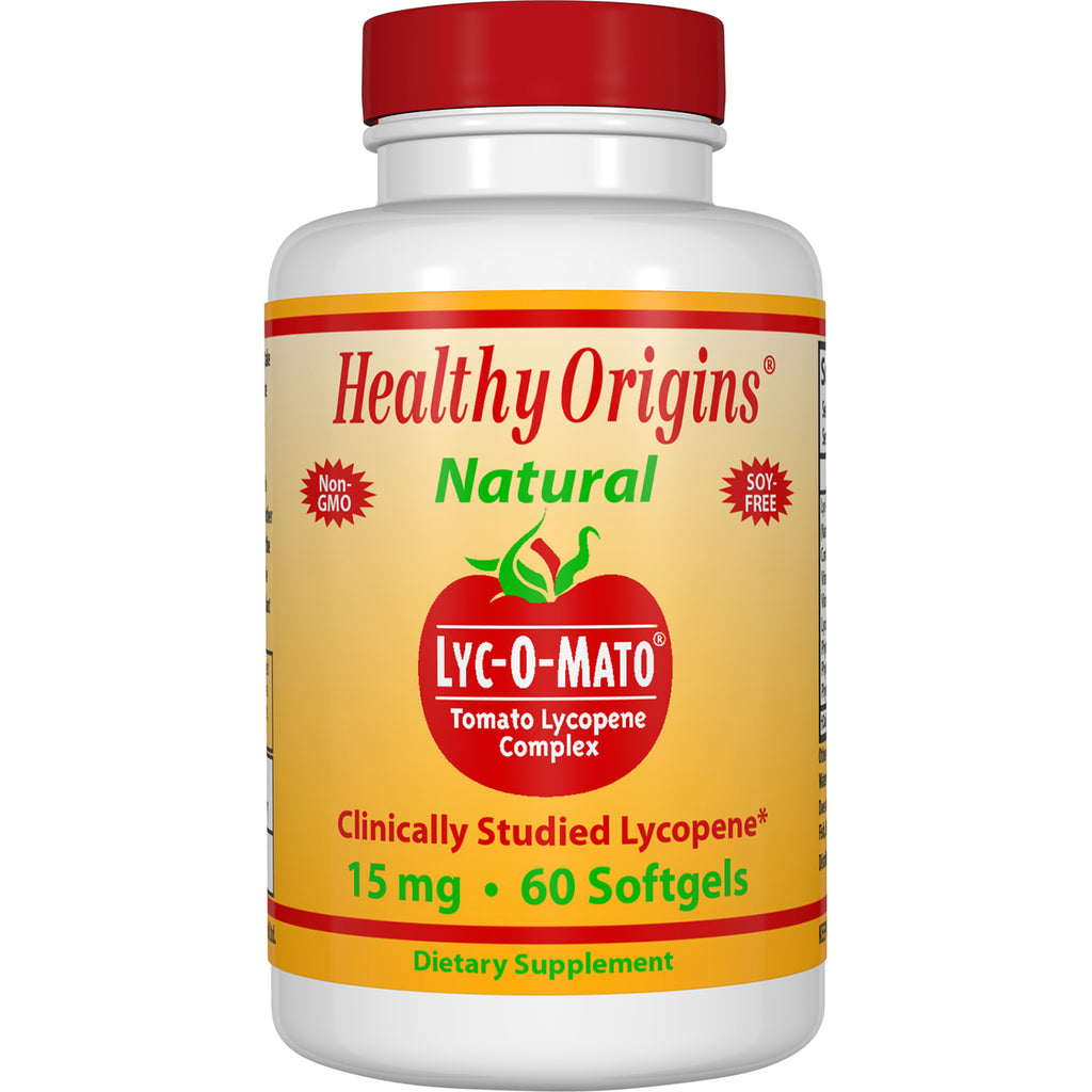 Healthy Origins - LYC-O-MATO (LYCOPENE + OLIVE OIL), 15 MG, 60 GELS