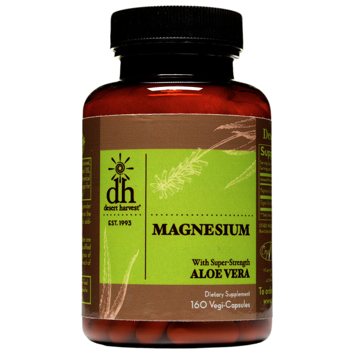 Desert Harvest Magnesium with Super Strength Aloe Vera (160 Caps)
