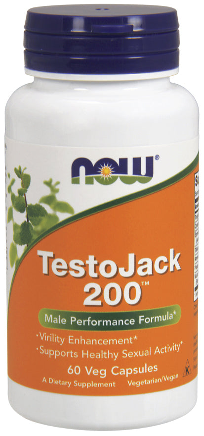 Now Foods - TestoJack 200 Extra Strength, 60 Veg Capsules