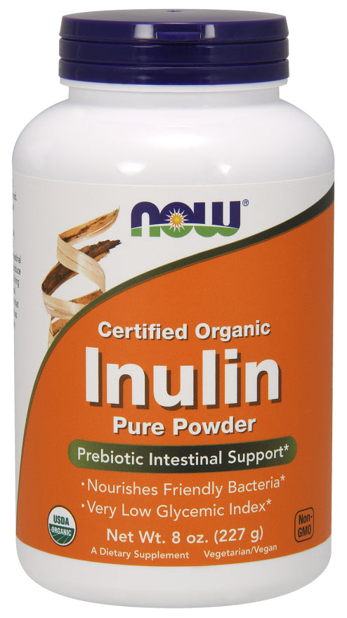 Now Foods - Inulin Powder, Certified Organic 227g