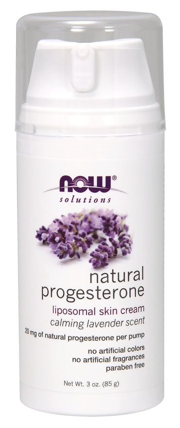 Now Foods Progesterone Liposomal Skin Cream with Lavender 85g (3 oz)