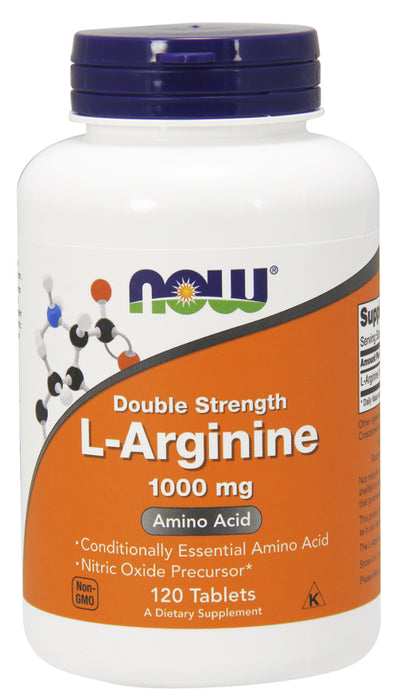 Now Foods - L-Arginine DOUBLE STRENTH 1000 mg, 120 Tabs