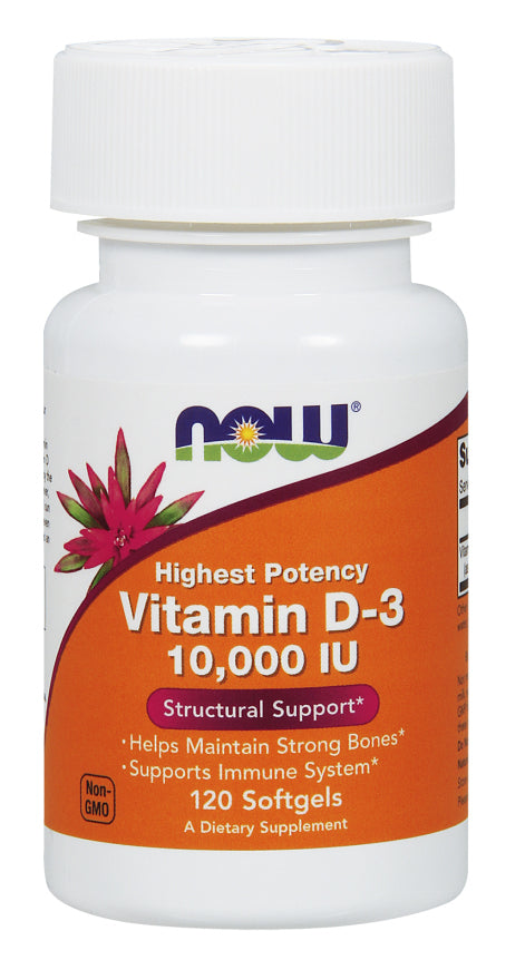 Now Foods - Vitamin D-3 10,000 IU, 120 Softgels