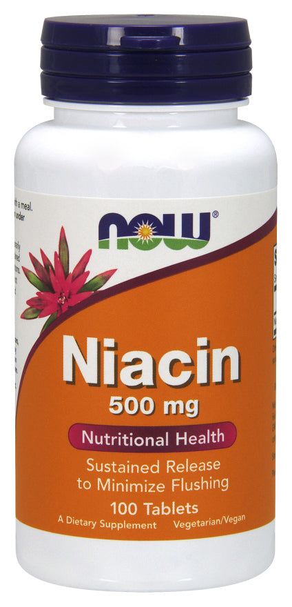 Now Foods - Niacin 500 mg, 100 Caps
