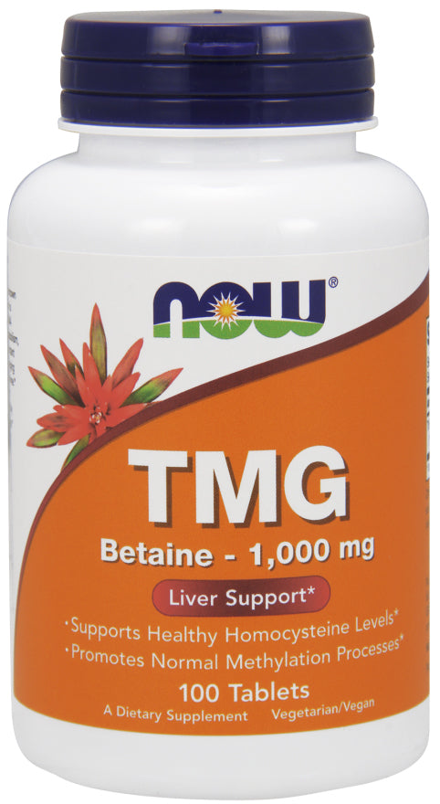 Now Foods - TMG (Trimethylglycine) 1,000 mg, 100 Tabs