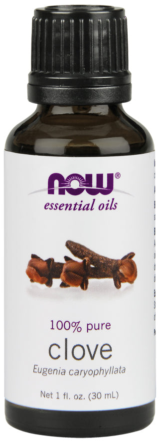 Now Foods - Essential Oils 100% Pure Clove, 1oz 30ml, Eugenia Caryophyllata