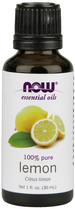 Now Foods - Essential Oils 100% Pure Lemon Oil, 1oz 30ml