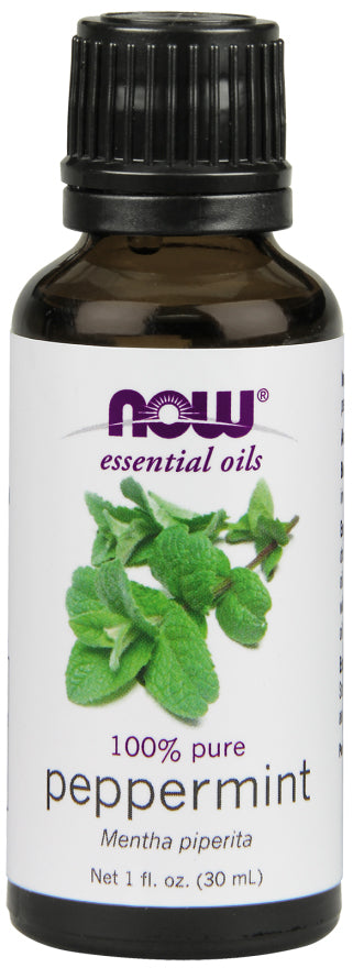 Now Foods - Essential Oils 100% Pure Peppermint Oil, 1oz 30ml