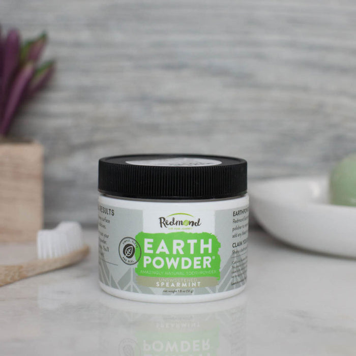 Redmond - Earthpowder Spearmint 51g Natural Tooth Powder